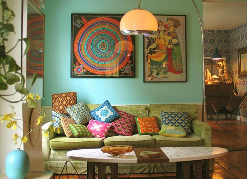 Hippie Living Room Style Decoration
