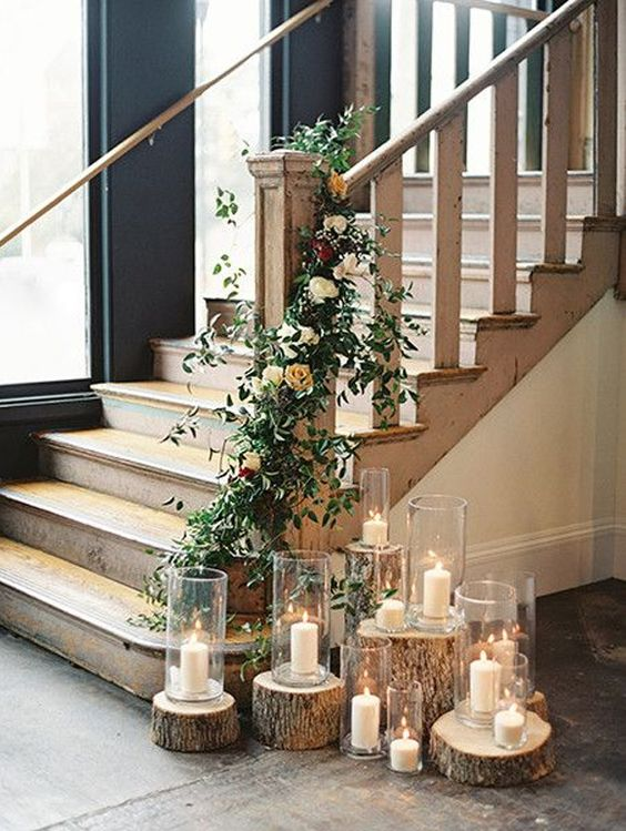 Decorate A Staircase Lyns Furniture Rustic Style