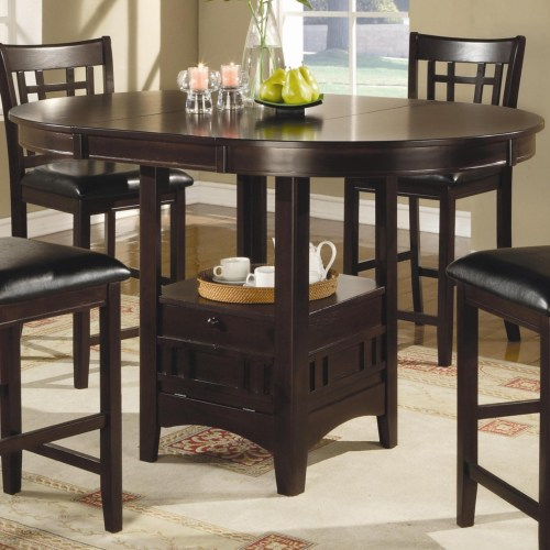 Lavon Transitional Espresso Counter Height Table